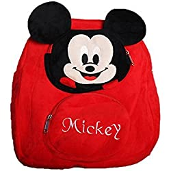ToyJoy Mickey mouse school bag 35cm for kids/girls/boys/children plush soft bag backpack cartoon bag gift for kids