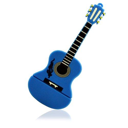 No14100030008 chiavetta usb 8gb flash paese chitarra blu figura