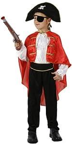 Atosa-95707 Disfraz Pirata, Color rojo, 5 a 6 años (95707