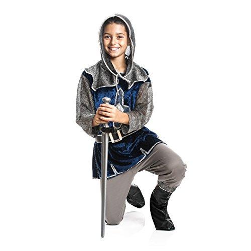 Kostümplanet® Ritter-Kostüm Kinder Jungen + Stiefel-Stulpen Faschingskostüm Größe 152