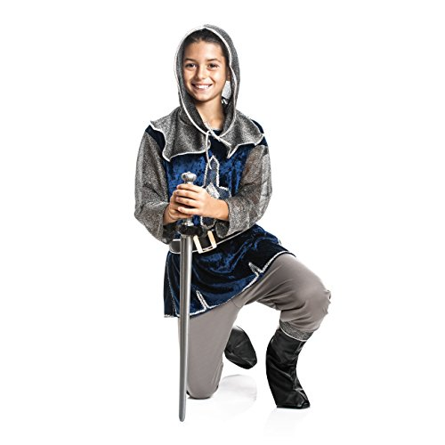 Kostümplanet® Ritter-Kostüm Kinder Jungen + Stiefel-Stulpen Faschingskostüm Größe 152 (Schnelle Für Jungs Kostüm-ideen)