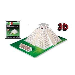 Puzzle 3D 19 pièces : Pyramide Maya, Mexique