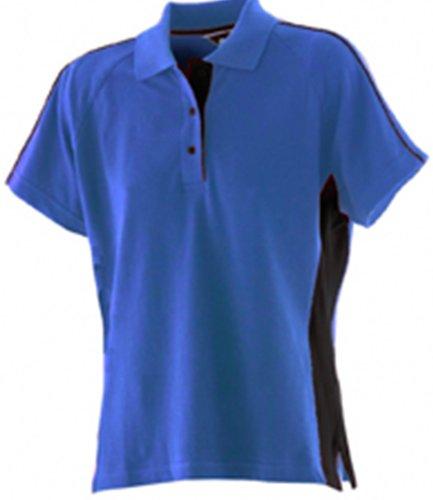 Finden & Hales - Polo -  Femme Bleu - Royal Blue / Black