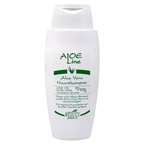 Aloe Vera Haarshampoo/Pflege Shampoo 200ml enthält 10% Aloe Vera, Weizenkeimöl, Glycerin und Milchsäure | ohne Parabene - ohne Silikone | Glanz & Geschmeidigkeit | VEGAN | Made in Germany