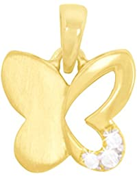 MyGold Schmetterling Anhänger (Ohne Kette) Gelbgold 333 Gold (8 Karat) Zirkonia 13mm x 10mm Innen Offen Goldanhänger Kettenanhänger Geschenk Für Mädchen Weihnachtsgeschenk Sweet Butterfly V0010821