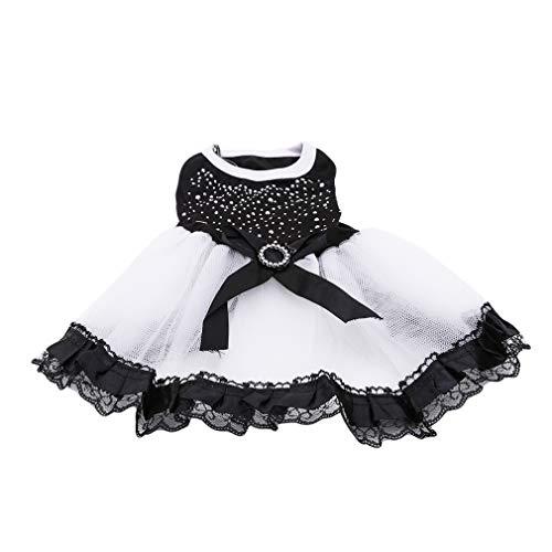 Jixing Pet Kleine Hund Prinzessin Kleid Spitze Rock Katze Welpen Sommer Kleidung Hochzeit Röcke für Mädchen M - Mädchen-kleidung Kleiner Hund