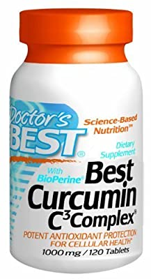 Best Curcumin C3 Complex with Bioperine (1000 mg), Tablets, 120-Count by Doctor's Best