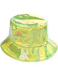 cac167e797f BFD One Holographic Bucket Hat Shiny Metallic PVC Bucket Hat Silver Gold  Mens Womens Sun Hat