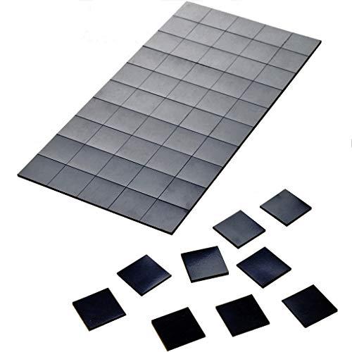 Magnetplättchen selbstklebend 100 Stück – Geprüfte Qualität – 20 mm x 20 mm – Stärke: 1,2 mm – schwarz – haftstarke Magnetplättchen optimal für Büros, Poster, Kühlschränke