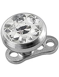 2357f10bc Epoxy Clover Multi Crystal Stone Top with G23 Grade Titanium Base Dermal  Anchor Piercing