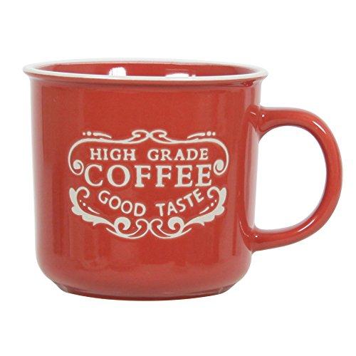 Novastyl 8017712 Lot de 6 Mug en Ceramique 40 cl Rouge Email