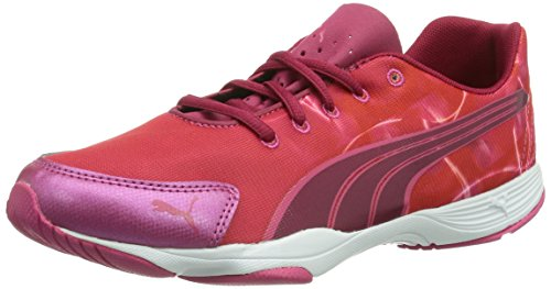 Puma Flx Graphic Wn'S, Chaussures de fitness femme Rouge (Cerise-White 03)