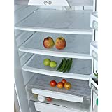 Kuber Industries PVC 6 Pieces Fridge Mat Set (White) -CTKTC6968