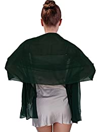 Play Tailor Suave de la manera bufanda para mujer gasa escarpada Mantón nupcial para vestido de novia