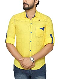 PP Shirts Yellow Coloured Shirt With Roll-Up Sleeve
