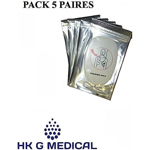 5paries elettrodi adulti defibrillatore di formazione