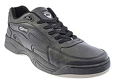 Mens Wide Fit lace Up Trianers (13, Black)