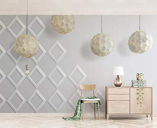 Minyose - Lámpara de pared con fondo para sala de estar, diseño geométrico, 200cmx140cm