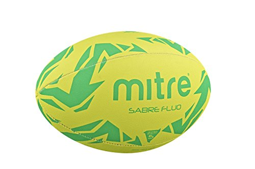 Mitre Men's Sabre Training Rugby Ball - Fluorescence