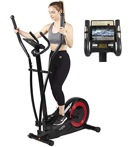 Vélo elliptique réglage motorisé CE-665 par Care | 21 programmes - Remise en Forme complète -...