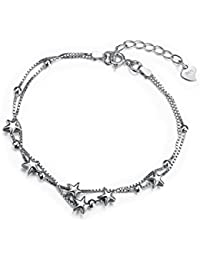 Dainty Delicate Star Adjustment Chain Bracelet with 925 Sterling Silver Friendship Jewellery for Women Teenage Borong