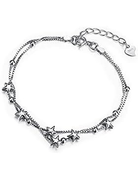 Empfindliches Stern-Justage-Ketten Armband mit 925 Sterling Silber-Freundschafts-Schmuck für Frauen-Jugend Borong