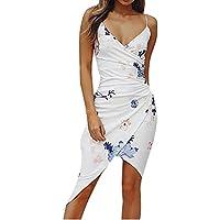 9215e577b3 Vestido Corto Mujer Verano Mosstars Vestido de Playa Camisola sin Mangas  Cuello en V Sexy Mujer