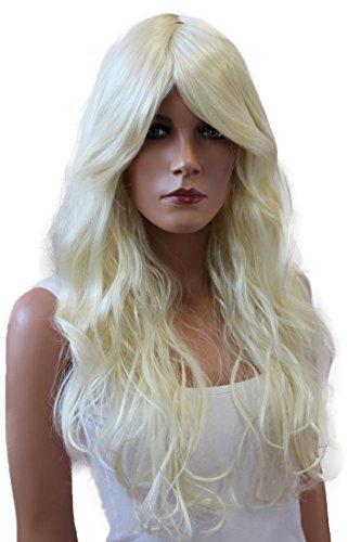 PRETTYSHOP Sexy Perücke Wig langhaar gewellt Cosplay Partyperücke Fasching diverse Farben (blond 613 PP2)
