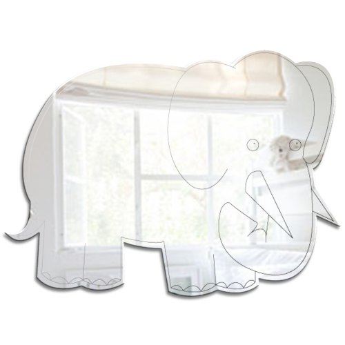 Mungai Mirrors Dschungel-Elefant-Acryl-Spiegel (30cm)