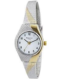 Regent Damen-Armbanduhr XS Analog Quarz Edelstahl beschichtet 12180007