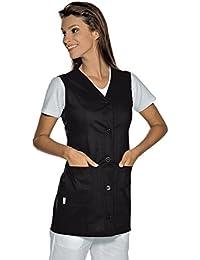 Isacco-túnica médica Tropea sin mango, color negro