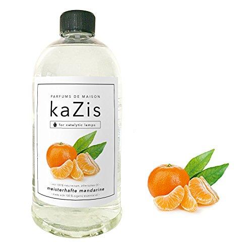 KAZIS I MANDARINE DUFT I Lampe Berger Raum-Duft Alternative I Parfums de Maison I Nachfüll-Öl (Refill) I 1000 ml I 1 Liter I katalytische Lampe (Refill Duft Wäsche)