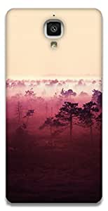 The Racoon Lean red wood hard plastic printed back case / cover for Xiaomi Mi 4