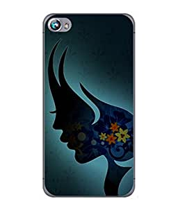 PrintVisa Designer Back Case Cover for Micromax Canvas Fire 4 A107 (Illustration Of Lady In Beauty With Flowers )