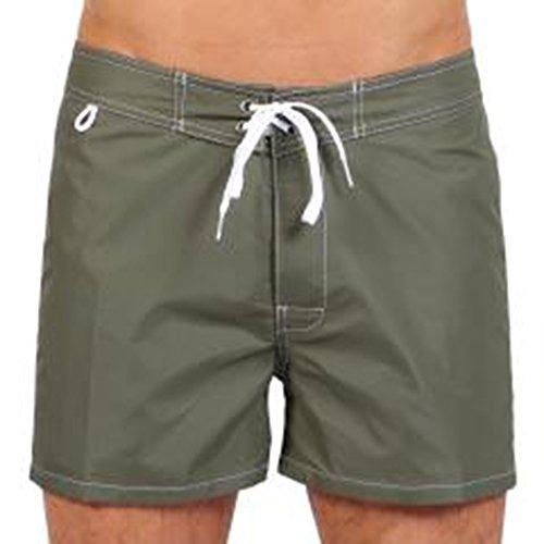SUNDEK Low Rise, Short Homme, Multicolore Vert foncé