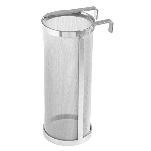 BESTONZON Edelstahl Filter Bier Wein Tee mit Hakengriffen für Haus Bierbrauen Wasserkocher (4x10 Zoll) -