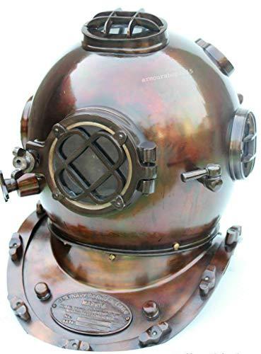 Antiker Helm Deep Sea US Navy Mark V Tauchen Scuba Divers 18