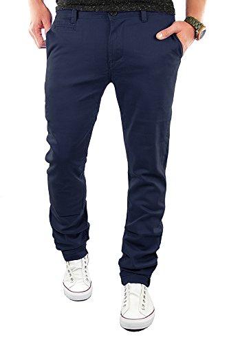 Merish Chino Slim Fit Hose Jeans 6 Farben Neu 68 Dunkelblau 32-32