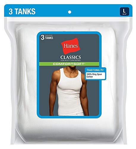 Hanes Ultimate™ ComfortSoft® TAGLESS® Men's Ribbed Tank Undershirt