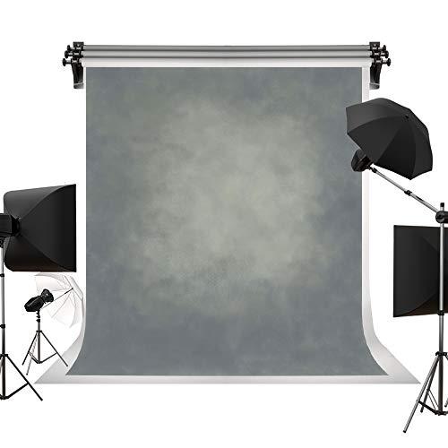 KateHome PHOTOSTUDIOS Kate 5 x 7ft/1,5 x 2.2m Mikrofaser Fotografie Hintergrund Grau gedimmt Studio Hintergrund Fotoshooting Papier Keine Falte Foto Requisiten