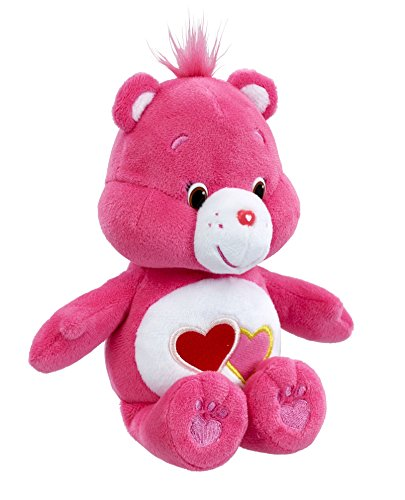 Image of Vivid Imaginations Care Bears Love-a-Lot Bean Bag Plush Toy (Multi-Colour)