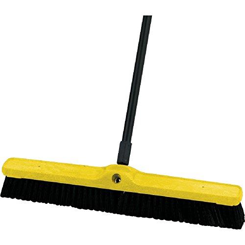 Medium Floor Sweeper, 24 x 3, Black - Rubbermaid Sweeper