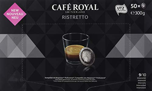 Café Royal Ristretto 300 cápsulas compatibles para Nespresso, Professional, Intensidad: 9 de 10 , Pack de 6 x 50 cápsulas