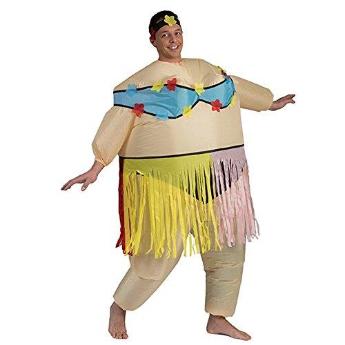 Aufblasbares Kostüm Hula Frau Airsuit Hawaii Tänzerin Kostüm AirSuits Fasching (Hula Aufblasbare)