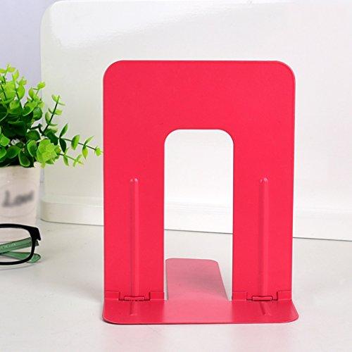 Libro de escritorio 175 * 140mm Color Fold Bookshelf Student Creative Stationery ( Color : Rojo )