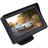 Kingsway kkmtftscr43001 4.3 Inch TFT LCD Dashboard Screen Universal for All Cars (Multi-Colored)