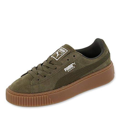 Puma Suede Platform Animal W Scarpa Olive Night
