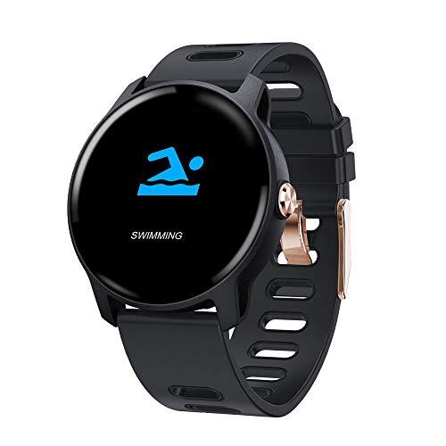 Yimiky IP68 wasserdichte Smartwatch, 1,3 Zoll 240 * 240 ausgeglichenes Glas-Schirm Tapeten-intelligente Uhr-Blutdruck-Eignungs-Verfolger Smartwatch für Kinderfrauen-Männer - Blau