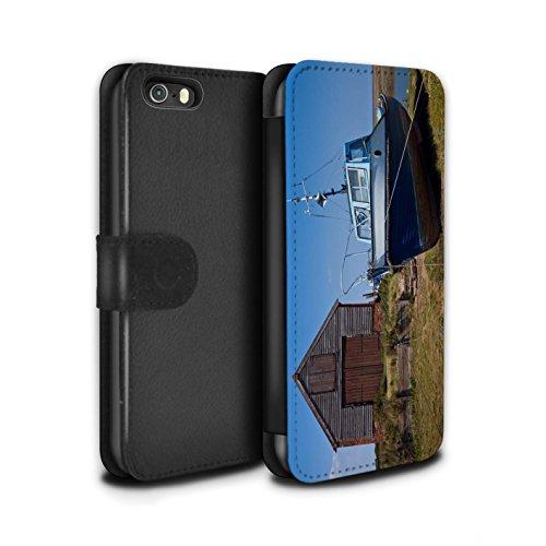 Stuff4 Coque/Etui/Housse Cuir PU Case/Cover pour Apple iPhone 5/5S / Bateaux Design / Côte de la Colombie Collection Hangar à Bateau