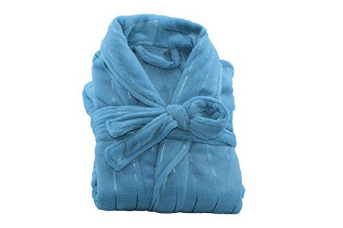 Bademantel Morgenmantel Saunamantel für Damen & Herren - in 4 Größen und Farben Hellblau